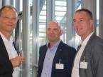 ESA-CEO Giorgio Feitknecht, Autoscout-Director Christoph Aebi und Diego De Pedrini, Sekretär AGVS-Sektion Zürich.
